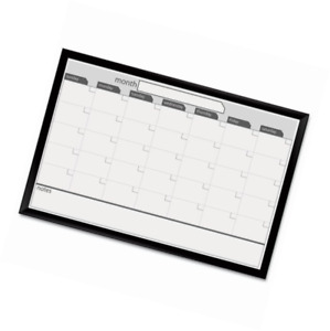 Magnetic Dry Erase Calendar 24 X 36 Inches Black Aluminum Framed Office School