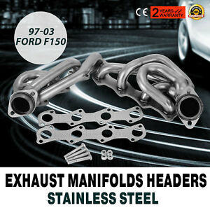97 08 Ford F150 Stainless Steel Exhaust Manifolds Headers 5 4 Shorty F 150 Egr
