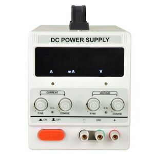 110v Ac 30v 10a Digital Dc Power Supply Precision Variable Test Equipment Tool