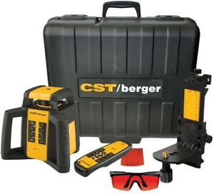 Cst Berger 2000 Ft Self Leveling Horizontal Vertical Rotating Laser Level 6 Pc
