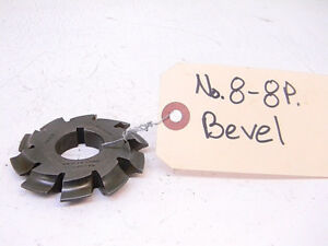 Used Brown sharpe Involute Gear Cutter 8 8p Bevel Hs B15 bore 1