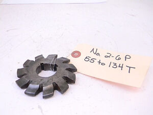 Used Utd Involute Gear Cutter 2 6p 55 134t bore 1
