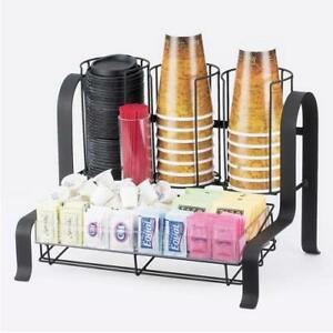 Cal mil 1594 13 2 tier Black Coffee Organizer
