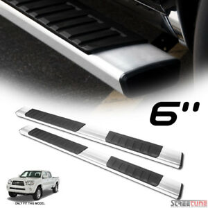 6 Oe Aluminum Steel Silver Side Step Running Boards For 05 18 Tacoma Double Cab