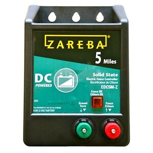 Zareba Edc5m z 5 mile Battery Operated Solid State Fence Charger New