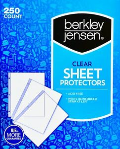 Berkley Jensen Clear Sheet Protectors Acid free Reinforced 250 Or 500 Count