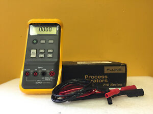 Fluke 715 0 To 24 Ma 0 To 200 Mv 0 To 20 V V Ma Calibrator Leads Tested