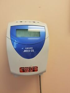 Amano Mrx 35 Electronic Calculating Time Clock Recorder