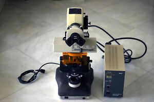 Nikon Labophot 2 Fluorescence Microscope With 2 Plan Objectives And Filter Cube