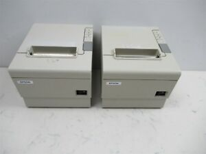 Lot Of 2 Epson Tm t88iv Model M129h Thermal Receipt Printers Point Of Sale Pos