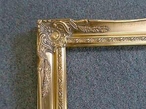 Picture Frame 14x18 Vintage Old Gold Antique Style Ornate Classic 678g
