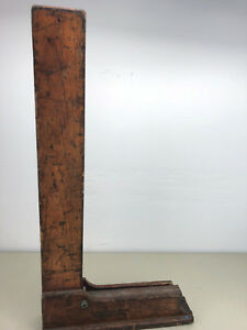 Brown Sharpe Machinist Square 541 27 X 13 3 4 Inch With Wooden Stand