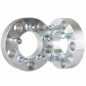 2x Wheel Spacers 5x5 5 To 5x4 5 1 5 Thick 1 2 Studs Adapters Ford Dodge