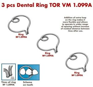 3x Dental Ring For Sectional Metal Matrices Matrix As Palodent Tor Vm 1 099a