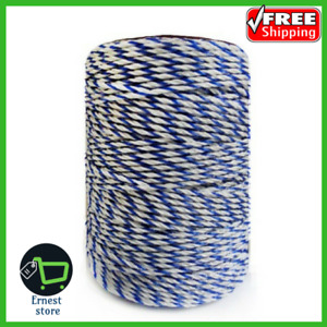 Electric Fence Poly Wire White Blue Polywire With Steel Wire Poly Rope For Horse
