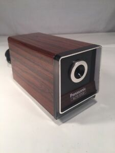 Panasonic Auto stop Model Kp 120 Electric Pencil Sharpener Wood Grain