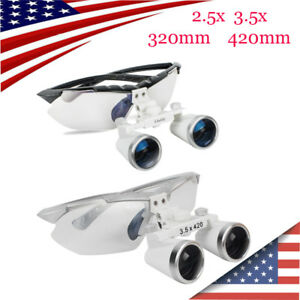 Dental Surgical Medical Binocular Loupes 2 5x 3 5x 320mm 420mm Magnifier Glasses