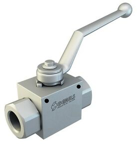 Hydraulic High Pressure 2 Way Steel Ball Valve With Fixing Holes 3 4 bsp 7250psi