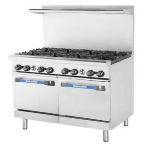 Turbo Air Tar 8 48 In Restaurant Range W 8 Burners 2 Standard Ovens