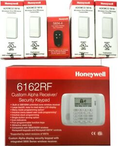 Honeywell 6162rf Keypad 4 5816 W Transmitter 1 5834 4 Wireless Remote Control