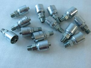 Lot 13x New Parker P1014346 Hydraulic Straight Fitting Crimp P43 6r1 r2 r3