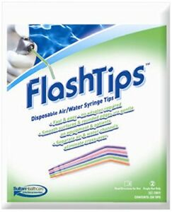 Sultan 23075 Flashtips Air water Syringe Tips Assorted Colors 1200 pk