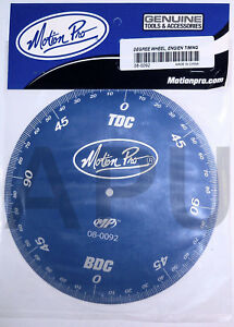 Motion Pro Engine Timing Degree Wheel Ignition Cam Blue Tool 08 0092