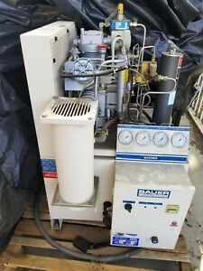 Bauer Breathing Air Compressor Mv e1 7 0 Cfm 5000 Psi 7 5hp 220v 1 Phase 60 Hz