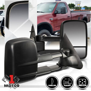 pair power Extendable Towing Side Mirror For 97 04 Ford F150 f250 Light Duty
