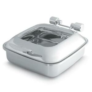 Vollrath 46134 Intrigue Chafer W glass Top Stainless Food Pan