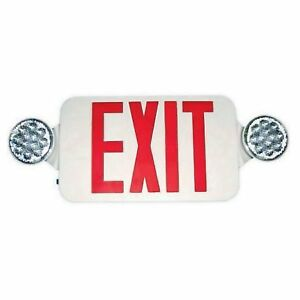 Double Side Led Combination Exit Sign Led Lamp Heads 90 Min Operation 120