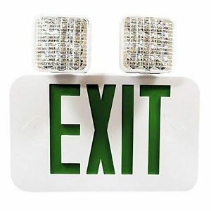 Double Side Led Combination Exit Sign High Output Self Diagnostic Adjustab
