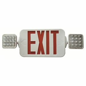 Double Side Led Combination Exit Sign High Output Adjustable Square Led Lamp