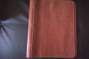 Nwt Il Bisonte 3 Ring Customized Leather Binder Folio Organizer Planner Italy