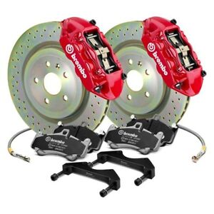 Fiat 500 12 15 Brembo Gt Series Cross Drilled 1 piece Rotor Front Big Brake Kit