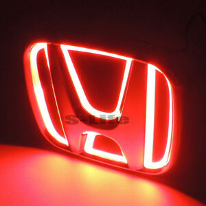 Red New Auto 5d Led Car Tail Logo Light Badge Emblem For Honda Accord 2008 2009