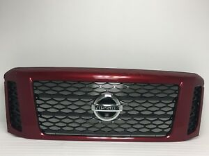 2016 2017 2018 2019 Nissan Titan Gas Red Grille W hole For Camera