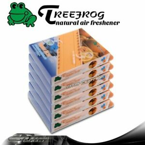 6 Pack Tree Frog Natural Xtreme Duo Car Air Freshener 2 In 1 Orange