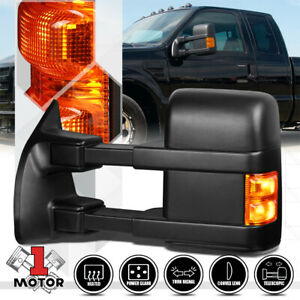 Left Driver Side Power Heated Led Signal Towing Mirror For 08 16 Ford F250 Sd