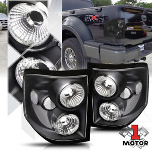 Black Clear Euro Altezza Tail Light Brake Lamp For 04 08 Ford F150 Flareside