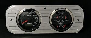 1937 1938 Chevy Car 2 Gauge Dash Panel Gps Quad Style Gauge Set Black