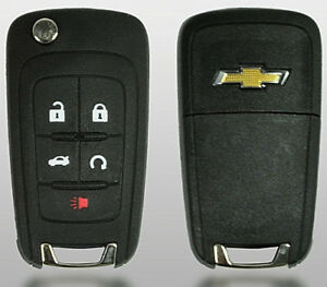 Chevrolet Flip Remote Key 2010 2017 5 Buttons Chevy Logo Top Quality