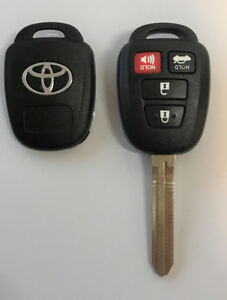 Toyota Corolla Camry Rav4 2012 2016 4 Button Remote Head Key Shell Top Quality