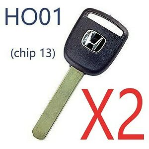 2 Honda Ho01 Transponder Key Civic Element Crv Pilot Odyssey 02 03 04 05 06 Usa