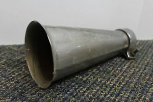 Antique Vtg Auto Car Motorcycle Chrome Muffler Tail Pipe Tip End sweet 583
