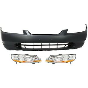 Bumper Cover Kit For 1998 2000 Honda Accord Front 2 door Coupe 3pc
