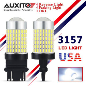 Auxito 2x White 144 Smd 3157 Reverse Backup Lights Drl Turn Signal 3156 Led Bulb