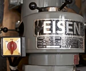 Eisen S 2mh Milling Machine Head Step Pulley 8sp r8 Taper 3 Hp 220v 1 phase