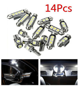 14pcs White Car Interior Led Light Package Kit For Bmw 3 Series E90 328i 335i M3