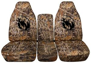 Truck Seat Covers 2018 Chevy Silverado Duck Hunt Camouflage Front And Rear